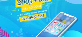 Cách đăng ký gói VD30 Vinaphone ưu đãi 6GB và 200 phút gọi