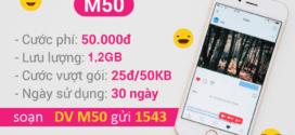 Cách đăng ký gói M50 Vinaphone chỉ với 50k có ngay 1,2GB data