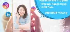 Đăng ký gói VD300 Vinaphone nhận ngay 11GB + gọi thoại cực đã